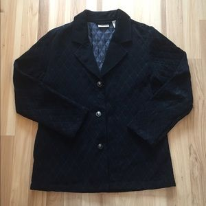Travelers Chico's 1 Quilted Jacket Blazer Button
